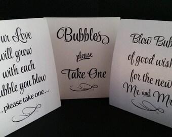 Wedding Bubble Sign