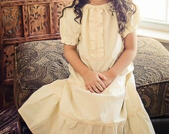 Girls maxi dress - peasant dress - flower girl dress - toddler maxi dress - long dresses for girls - white dress - boho maxi dress - maxi
