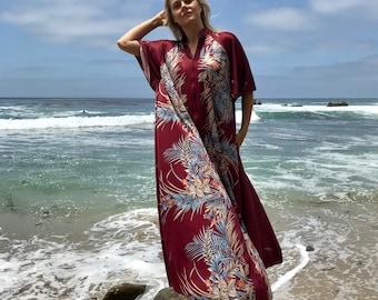 70s Mistique of California lounger gown/ robe/ mumu dress