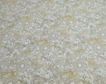Vintage Garden-Cream Cotton Fabric from Wilmington Prints