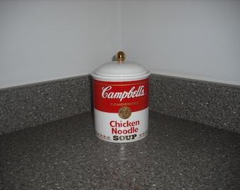Vintage Campbell's Chicken Noodle Soup Jar 1998