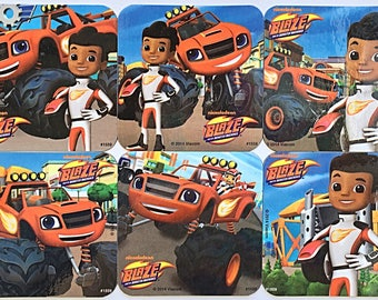Nickelodeon Blaze and the Monster Machines Refrigerator Magnets, Birthday Party Favors, 6 Nick Jr. Fridge Magnet, Free Set Bonus