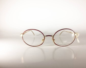 Diego Dalla Palma Metaflex Made in Italy Unisex 48-18-130 CE Metal Vintage Glasses Red/Gold NOS Deadstock - Free Shipping-DIEF325J-2