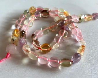 Rainbow Fluorite Bead Strand-Gemstone Destash-Fluorite Beads