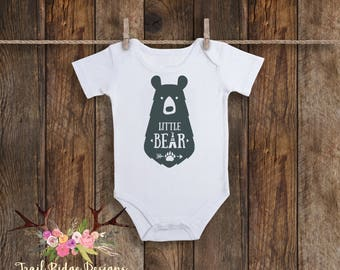 Little Bear Bodysuit, Bear Baby Bodysuit