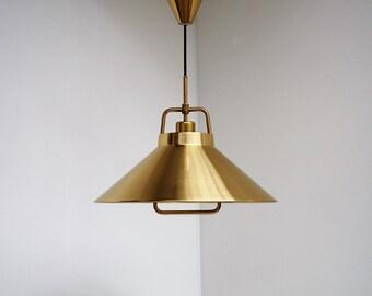 Classic vintage brass pendant from Danish designer Fritz Schlegel made for Lyfa, 1960s