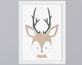 Deer - unframed art print