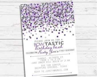 Confetti Birthday Party   Shades of Purple, Sprinkle