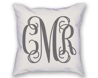 Custom Monogram Pillow with insert