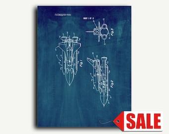 Patent Art - Space Vehicle Patent Wall Art Print