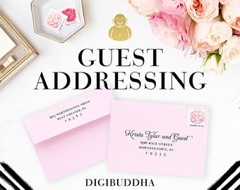 GUEST ADDRESSING Envelope Printing Recipient Address Printing on Digibuddha Envelope Addressing Printed Guest Addressing Printing Service