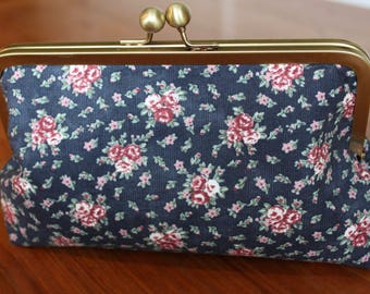 Vintage Rose Clutch Purse