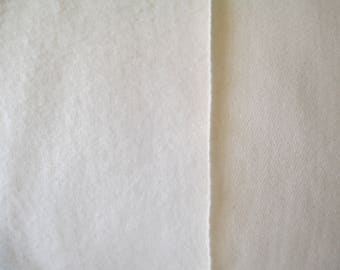 """Organic Cotton Fleece fabric - Michael Miller Organics - in natural cream color, 50"""" wide, sold by 1/2 yard"""