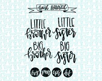 Sibling SVG Collection/ Little Brother svg/ Little Sister svg/ Silbing svg/ Newborn svg / baby svg / hospital svg / svg silbling