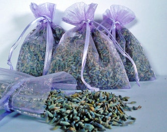 Organic Lavender Sachets grown in the Pacific Northwest United States, set of 4 for 5 dollars