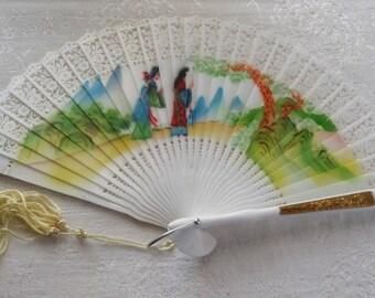 Vintage Fan Original Box Hong Kong Souvenir