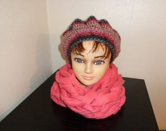 NEW! VERY NICE SCARF CORAL MADE WITH HANDS, WITHOUT NEEDLE!