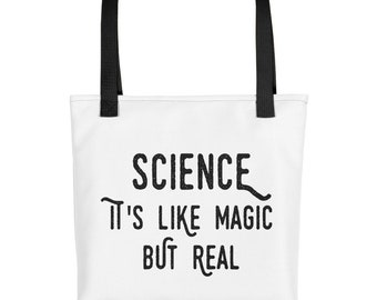 Science It's Like Magic But Real Tote  Nerd   Geek  Tote bag