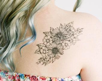 Wildflower Piece Temporary Tattoos- SmashTat