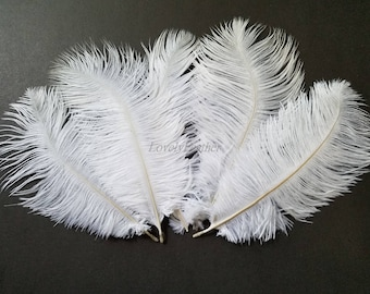 100 Pcs off white ostrich feather plume (30 to 35cm)