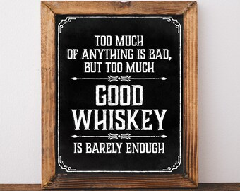 Prohibition party whiskey sign. Printable whiskey print. Black and white whiskey poster. Whiskey decor. Whiskey bar sign Whiskey party decor