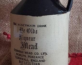 "The Honeymoon Drink ""Ye Olde Liqueur Mead"" Cornish Mead Co. Ltd. 20 Ounce Jug! Made in England!"