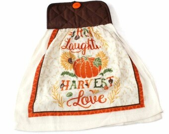 Pot Holder Top Thanksgiving Harvest Kitchen Towel