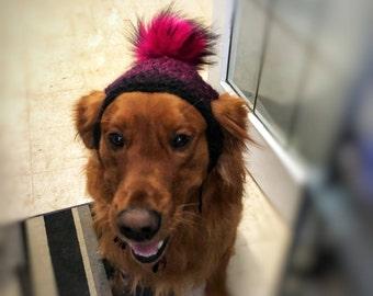 Faux Fur Pom Pom Labrador/Retriever Hat