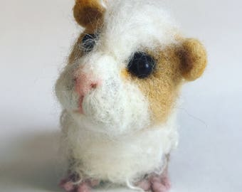 Gilbert the needle felted felt Guineapig wool fibre art sculpture