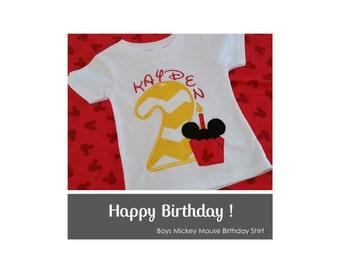 Boys Mickey Inspired Birthday Shirt