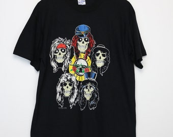 Guns N Roses Shirt Vintage tshirt 1989 Appetite For Destruction Tour LA Coliseum Concert tee 1980s GNR Los Angeles Axl Rose Slash Metal Band