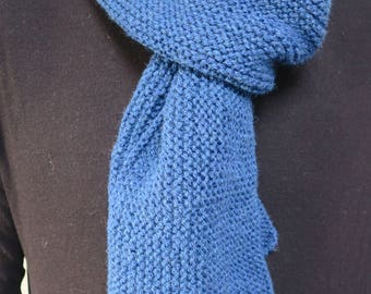Scarf blue faience mixed