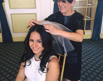 Bachelorette Hair Veil, Hen Party, Stagette, Bridal Shower, Despedida de Soltera