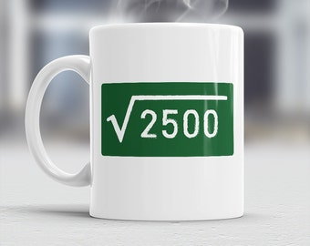 50th Birthday, 50th Birthday Gift, Square Root 2500, 50th Birthday Idea, Vintage, 1965, Happy Birthday, 50th Birthday Present 50 year old