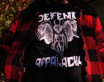 Mothman Defend Appalachia Glow in the Dark T Shirt