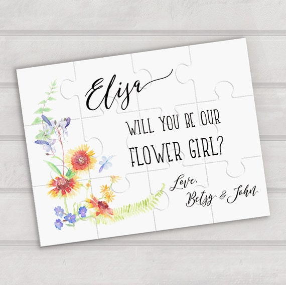 Will You Be Our Flower Girl Puzzle Wedding Proposal Puzzle