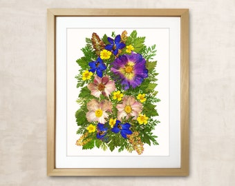 Flowers Print Gift For Women Dried Flowers Art Pressed Flower Art Pressed Flowers Art Dried Flowers Herbarium Dried Flower Dried Flower Art