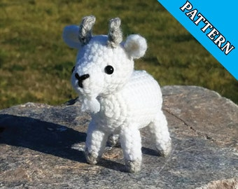 Merlin the Goat Pattern- goat amigurumi pattern, crochet goat (PATTERN ONLY)