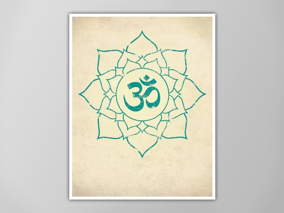 Om lotus print lotus art print yoga decor aum lotus flower zoom mightylinksfo