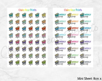SHOPPING CARTS Planner Stickers (2 options)