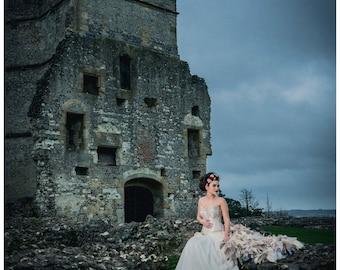 Bespoke wedding dress. Alternative corset dress / prom. Cinderella. Custom MADE TO ORDER