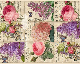 Flowers Decoupage Paper A4 Decoupage supplies Scrapbooking Paper Craft Projects Floral Patterns #517