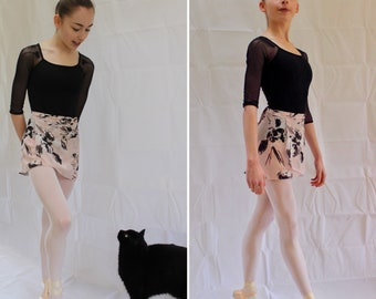 The Abstract Rose wrap skirt