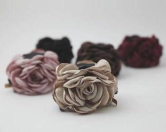 Rose Flower Hair Claw Clip Discolored Petal Flower Hair Clamp Women Hair Accessory