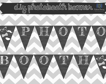 Photobooth Sign - Photo Booth Banner Printable - Photobooth Display - INSTANT DOWNLOAD - Wedding Decor - Wedding Signage - Photobooth Sign