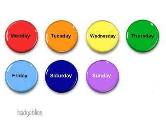 Days of the Week fridge magnets , fridge magnet set