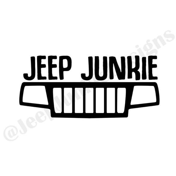 jeep junkie wj grill vinyl decal jeep cherokee decal jeep