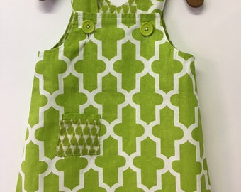 Size 2 Toddlers  Lime Green Summer dress with shoulder straps
