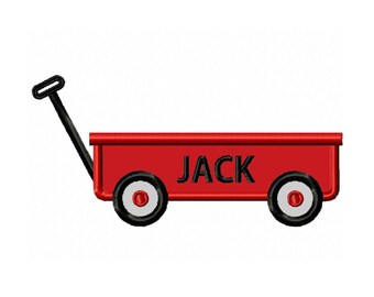 Little Red Wagon Applique Machine Embroidery DESIGN NO. 101