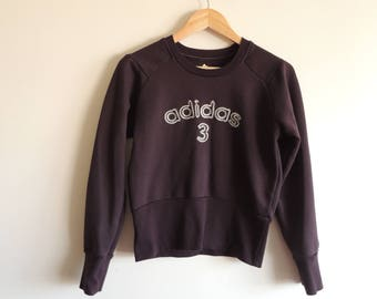 FREE SHIPPING -  Vintage ADIDAS Brown sweater, size approx. S